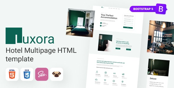 Luxora - HTML5 Luxury Interactive Hotel Template - Travel Retail