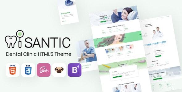 Santic - Dental Clinic HTML5 Theme, Doctor Directory - Health & Beauty Retail
