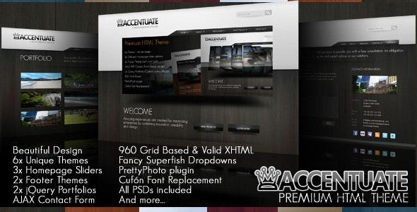 Accentuate Premium HTML Theme / Business Portfolio - Creative Site Templates