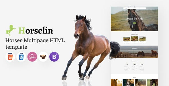 Horselin - Elegant Animals Multipage HTML5 Template