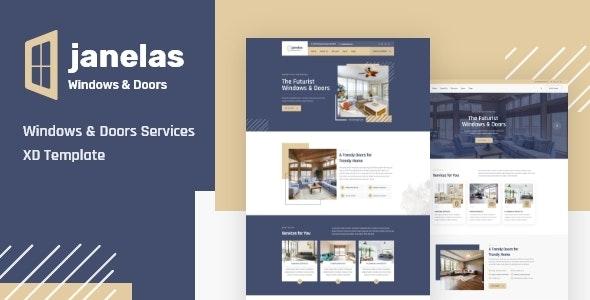 Janelas – Windows & Doors Services XD Template - Business Corporate