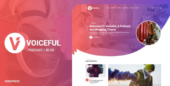 Voiceful - A Podcast / Blogging WordPress Theme