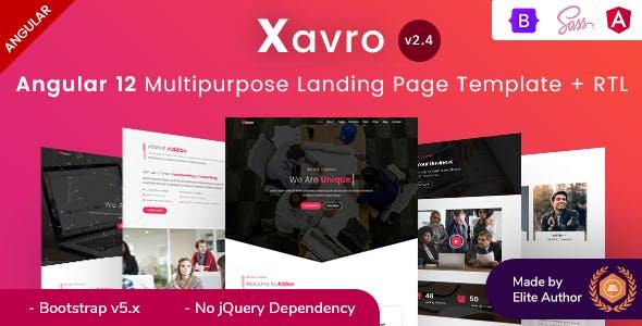 Xavro - Angular 12 Multipurpose Landing Pages