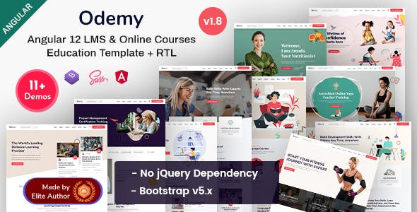 Odemy - Angular 12 Online Courses & Education Template