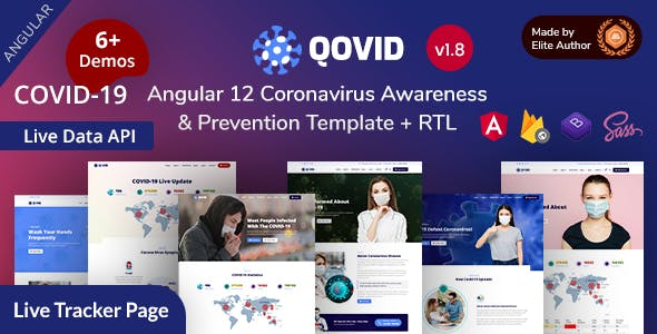Qovid - Angular 12 Coronavirus Medical Prevention & Vaccination