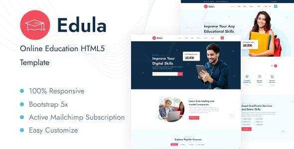 Edula - Online Education HTML5 Template