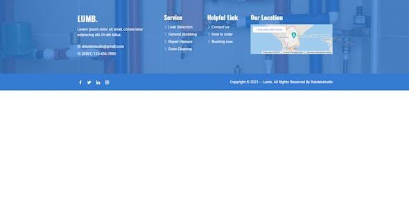 Lumb - Plumbing Service Elementor Template Kit