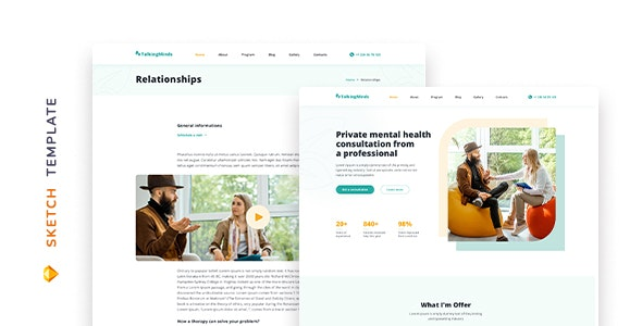 Talking Minds – Psychotherapist Template for Sketch - Health & Beauty Retail