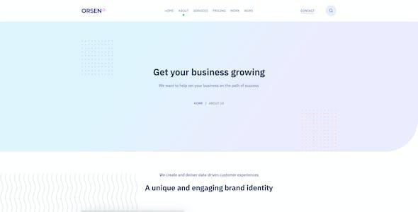 Orsen - Creative Agency PSD Template