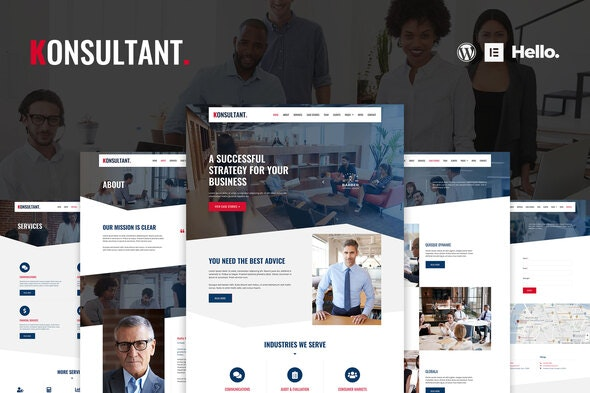 Konsultant - Consultancy Firm Elementor Template Kit - Business & Services Elementor