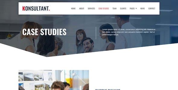 Konsultant - Consultancy Firm Elementor Template Kit