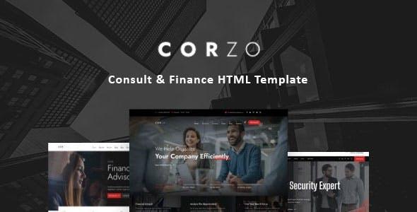Corzo - Consulting & Finance HTML Template