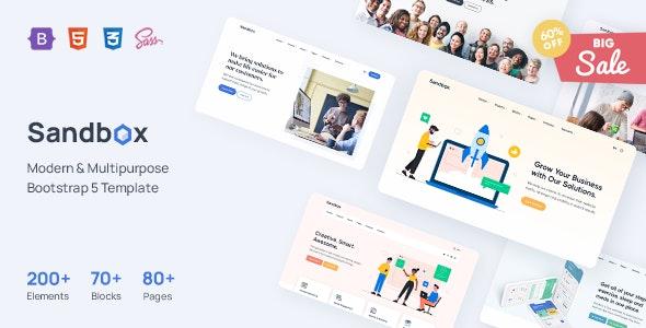 Sandbox - Modern & Multipurpose Bootstrap 5 Template - Corporate Site Templates