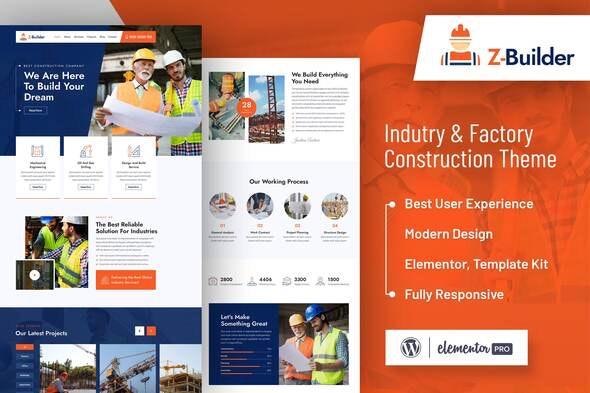 Z-Builder - Construction Elementor Template Kit - Real Estate & Construction Elementor