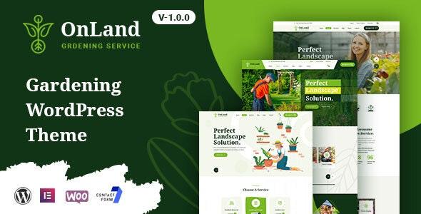 OnLand - Gardening WordPress Theme - Business Corporate