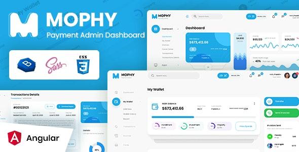 MOPHY - Payment Angular Admin Dashboard Template - Admin Templates Site Templates