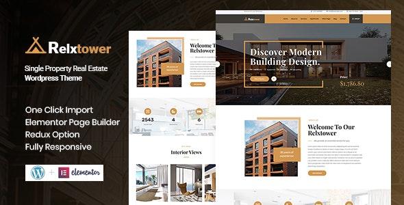 Relxtower - Single Property WordPress Theme - Business Corporate