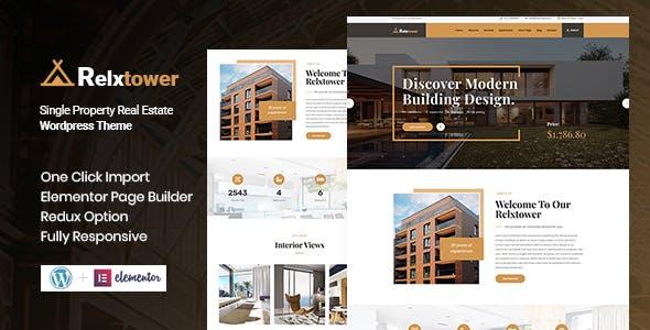 Relxtower - Single Property WordPress Theme