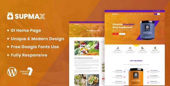Supmax - Health & Supplement WordPress Theme