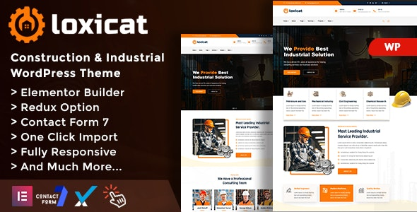 Loxicat - Construction & Industrial WordPress Theme - Business Corporate