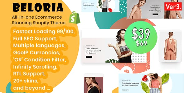 Beloria - Fastest Multi Languages Shopify Fashion Theme