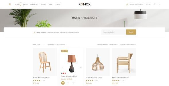 Romox - Minimal Ecommerce XD Template