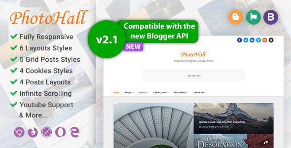 PhotoHall Responsive Photography Blogger Theme