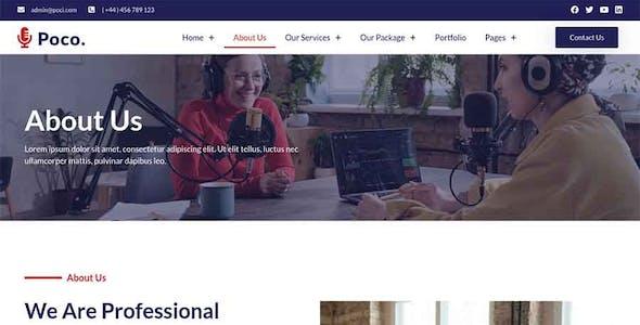 Poco - Podcast Recording Studio Services Elementor Template Kit