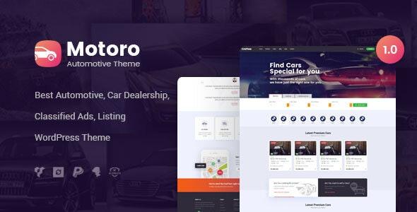 Motoro - Automotive Car Dealer WordPress Theme - Directory & Listings Corporate