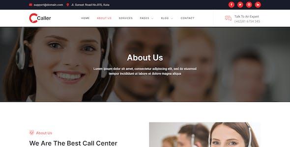Callerr – Call Center Service & Telemarketing Elementor Template Kit