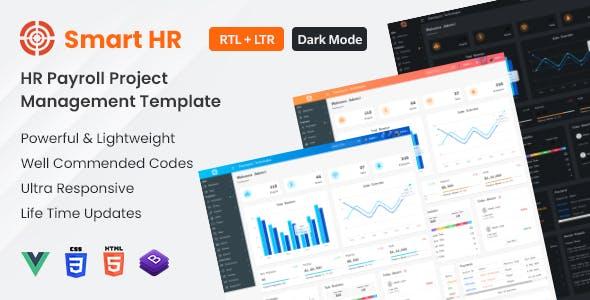 SmartHR - HR, Payroll, Project & Employee Management Admin Template - Vuejs