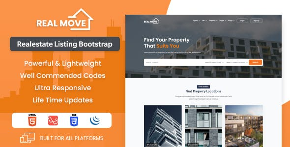 Realmove - Real Estate HTML template + Responsive + Bootstrap