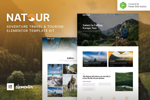 Natour – Adventure Travel & Tourism Elementor Template Kit - Travel & Accomodation Elementor