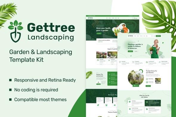 Gettree – Garden & Landscaping Elementor Template Kit - Business & Services Elementor