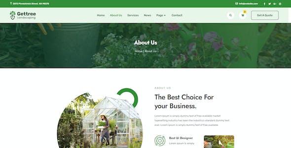 Gettree – Garden & Landscaping Elementor Template Kit