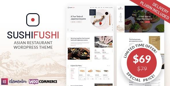 SushiFushi - Japanese & Asian Restaurant WordPress Theme - Restaurants & Cafes Entertainment