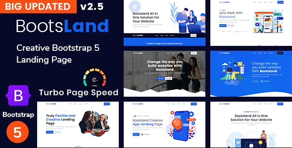 Bootsland - Creative Bootstrap 5 Landing Page