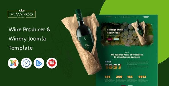 Vivanco - Vineyard & Winery Shop Joomla Template - Food Retail