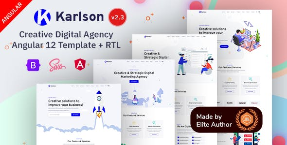 Karlson - Angular 12 Marketing & IT Agency Template