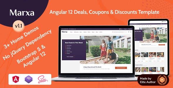 Marxa - Angular 12 Deals Coupons & Discounts Template