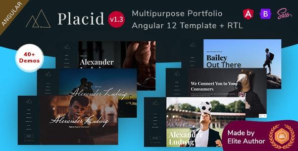 Placid - Angular 12 Multipurpose Portfolio Template - Portfolio Creative