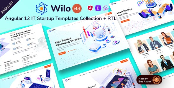 Wilo - Angular 12 IT Startups Templates Collection