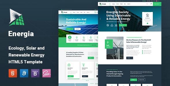 Energia - Renewable Energy HTML5 Template - Business Corporate