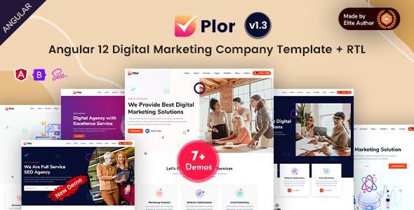 Plor - Angular 12 SEO & Marketing Agency Template