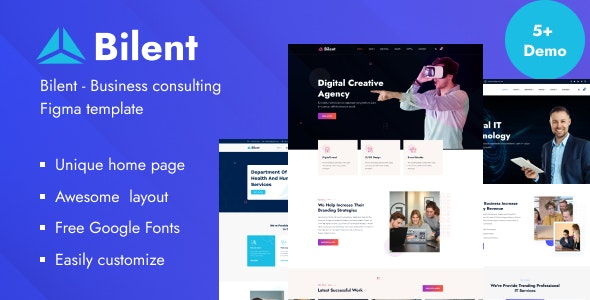 Bilent - Business Consulting Figma Template - Business Corporate