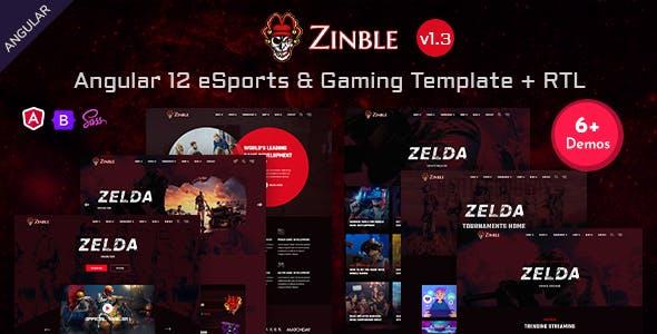 Zinble - Angular 12 eSports & Gaming Template