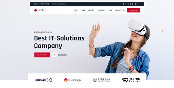 Itplot Technology and IT Solutions Xd Template