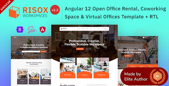 Risox - Angular 12 Office & Commercial Space