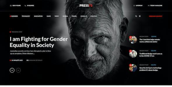 PRESS71 - Newspaper and Blog PSD Template