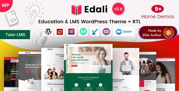 Edali - Elementor Online Courses & Coaching Education Theme - Education WordPress